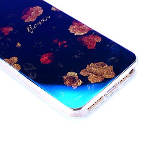 iPhone 5S Hülle,iPhone SE Hülle,iPhone 5 Hülle,iPhone SE 5S 5 Schutzhülle Case,ikasus® TPU Silikon Schutzhülle Case Hülle für iPhone SE 5S 5,Rosen Blumen Muster Kristall Bling Glänzend Glitzer Überzug Rosen #5