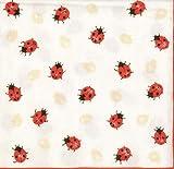Ambiente Servietten 33x33 LadyBird Cream - Marienkäfer ecru 2er Set