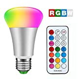 2 Modes d'Eclairage, RVB + blanc = RGBW La lumière multicolore RGB peut être utilisé comme lumière d'ambiance; la lumière blanche utilisée pour l'éclairage de la maison, ce qui est beaucoup plus lumineux que les mêmes ampoules watts à incandescence. ...