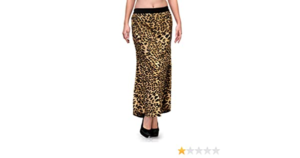 082e3bd02f Natty India Brown and Black Animal Print Crepe Straight Skirt: Amazon.in:  Clothing & Accessories