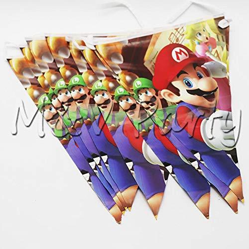 nweggeschirr Mario Bros Theme Party Tasse Teller Liefert Dekorationen Blowouts Banner Ballons, Flagge 10 Stücke ()