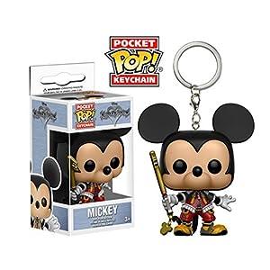 mozlly Multipack Funko Disney Kingdom Hearts Mickey Mouse bolsillo Pop Figura de 15 pulgadas de la cadena clave llavero Coleccionable accesorio Pack de 6 tema s120059 X6
