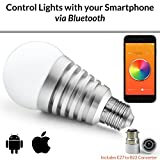 #4: Mansaa SmartShine - Bluetooth Wireless Smart LED Bulb - (9W, E27, Silver Body)