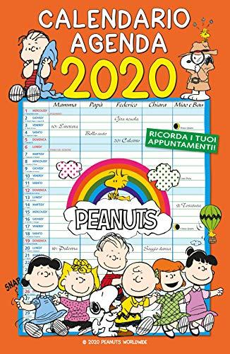 Calendario Agenda 2020 - PEANUTS (29x44)