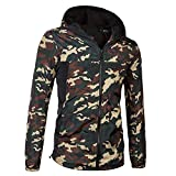 Igemy Herren Herbst Winter Outdoor Sports Hoodie Camouflage Mantel Dunkle Farbe Serie