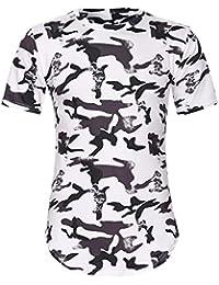 1bd968ce7 waotier Camisetas De Manga Corta para Hombre Moda para Hombrede Camuflaje  Informal De Cuello Redondo Ropa