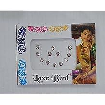 12Pack Bollywood cabeza redonda piedra Bindi Tatuaje India Art piedra diseño de reutilizable.