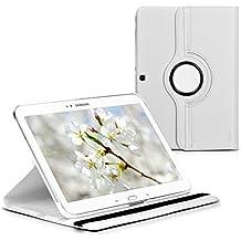 kwmobile Funda para Samsung Galaxy Tab 3 10.1 - Case de 360 grados de cuero sintético para tablet - Smart Cover completo y plegable para tableta en blanco