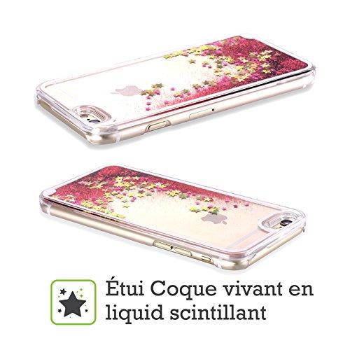 Head Case Designs Licorne Arc-En-Ciel Vomi Étui Coque Liquide Scintillez Rose chaud pour Apple iPhone 5 / 5s Chat
