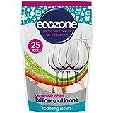 Écozone Brillance Tout En Un Tablettes Lave-Vaisselle 25 Par Paquet - (Paquet de 6)