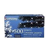 The Christmas Workshop 500 LED Chaser String Lights, Bright White