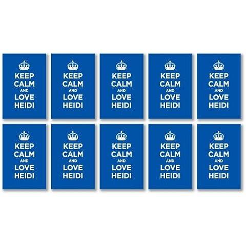 In vinile lucido, confezione: KEEP CALM LOVE HEIDI, colore: blu NAVY, motivo: capitano della seconda guerra mondiale, top con 10 adesivi, 6,8 x 4,5 cm/2,7 x 1,8 cm)