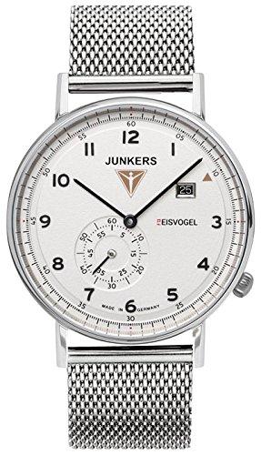Junkers 6730M-1 Mens Eisvogel F13 Silver Bracelet Chronograph Watch