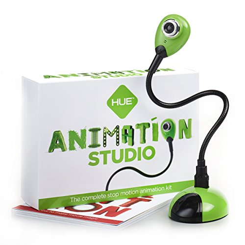 Hue Animation Studio (verde) per Windows e Mac OS X: kit completo di animazione stop-motion con videocamera (software di animazione disponibile solo in lingua inglese)