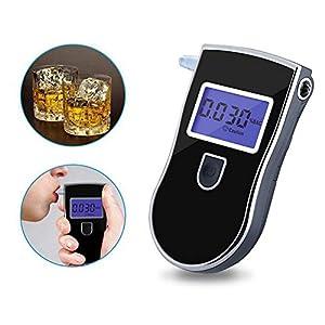 Breathalyzer Tragbare Alkoholtester Tester Digital LCD Bildschirm Alkoholtester Blau Hintergrundbeleuchtung Verfügbar mit Rechts/Links Hand mit 5 Mundstücken HMYH