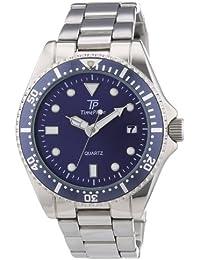 Time Piece Herren-Armbanduhr XL Sporty Analog Quarz Edelstahl TPGA-30172-34M