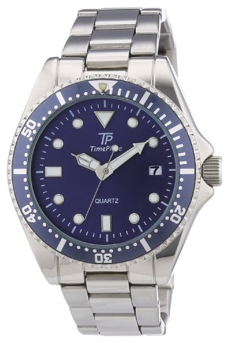 Time Piece Herren-Armbanduhr XL Sporty Analog Quarz Edelstahl TPGA-30172-34M