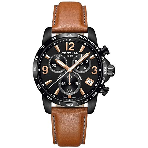 Certina Men's DS Podium 41mm Leather Band Quartz Watch C034.417.36.057.00