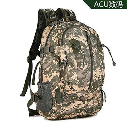 GOUQIN Outdoor Rucksack Klassische Mode Outdoor Schultern Klettern Taschen Armee Mini-Tactical Rucksack Freizeit Safari Sport Paket 36 L-55 L Dual Schultertasche C
