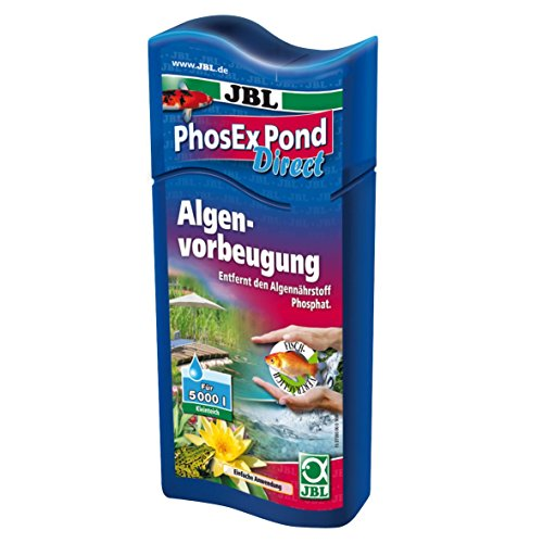 JBL PhosEx Pond Direct 27393 Phosphatentferner für Teiche, 250 ml