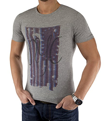 Jack & Jones Herren T-Shirt jjorCALL TEE CALL Light Grey Melange