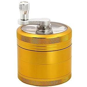 NALITARE Premium in alluminio mulino BROYEUR migliore per tabacco e la maggior parte delle Erbe di migliore qualità? 4pezzi 6,3cm oro