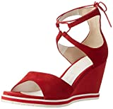 GERRY WEBER Shoes Damen Adriana 04 Plateausandalen, (rot), 38 EU
