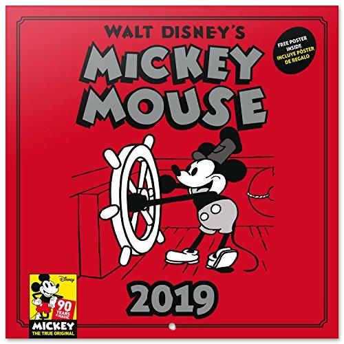 Grupo Erik Editores CP19022 - Calendario 2019 Disney Mickey 90 Anniversary, 30...