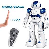SGILE Robot Télécommandé de Danses Intelligentes et Équilibrage Mouvement Automatique avec LED Clignotant Lumières Jouet pour Enfants