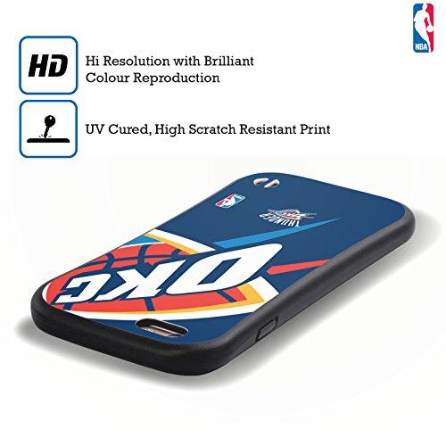 Officiel NBA Icône Surdimensionnée Oklahoma City Thunder Étui Coque Hybride pour Apple iPhone 6 / 6s Icône Surdimensionnée