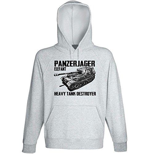 teesquare1st Panzerjager Elefant Sudadera con Capucha Size Medium