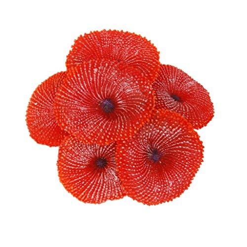 Impianto Di Corallo Falso Artificiale Decorazione Morbido Ornamento Per Pesci Da Acquario Serbatoio Rosso