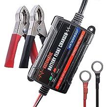 MICTUNING Batería Cargador de coche - 6V 12V cargador totalmente automático inteligente del flotador de la batería / mantenedor