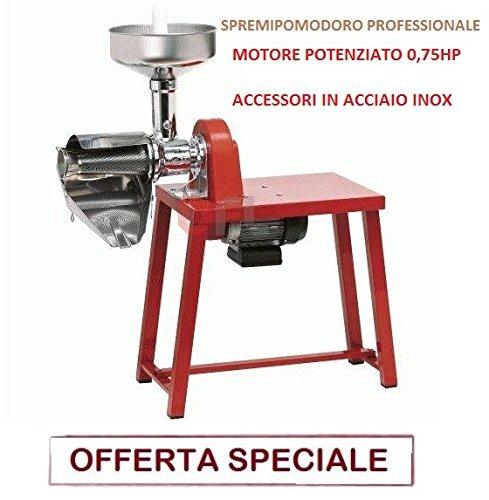 MFG SPREMIPOMODORO PASSAPOMODORO Inox Elettrico HP 0,75 BANCO Collo Alto PROFESSIONA