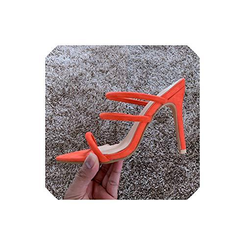 High Heel Pumps für Frauen öffnen Zehe-Absatz-Frauen-Pumpen-Schuhe Hochzeit Sandale Schuhwerk, orange Sandai, 7 (Rockport-pumpen-frauen-schuhe)