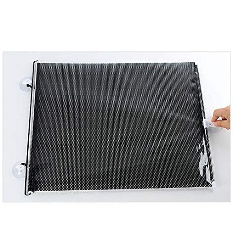 SUN-Feng Saugnapf-Teleskopvorhang, Netz-Wärmeisolierungs-Vorhang-Sonnenschutz PVC-Farbton-Vorhang-Schwarz-Schattierung 2pcs (Color : Black, Size : 130 * 52CM)