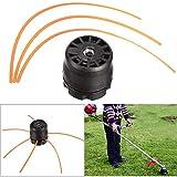 RENCALO Universal Rasenmäher Double Line Trimmer Head Bobbin Set KIT für Benzin Freischneider Rasen
