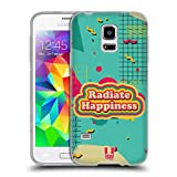 Head Case Designs Radiate Retro Wave Zitate Soft Gel Hülle für Samsung Galaxy S5 Mini