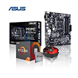 Memory PC Aufrüst-Kit AMD Ryzen 7 1800X AM4 (OctaCore) Summit Ridge 8x 4.0 GHz, 0 GB DDR4 2133Mhz, ASUS Prime B350M-A, USB 3.1, SATA3, 7.1 Sound, M.2 Sockel, GigabitLan, MultimediaKIT, komplett fertig montiert und getestet