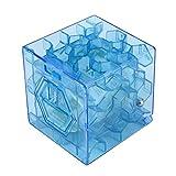 2018 Honestyi Matschig Spielzeug,3D Würfel Puzzle Geld Labyrinth Bank Speichern Münze Sammlung Fall Box Fun Gehirn SpielSpielzeug (Blau)
