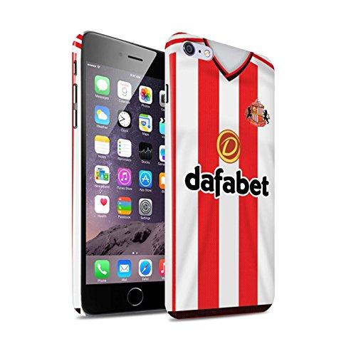Offiziell Sunderland AFC Hülle / Glanz Snap-On Case für Apple iPhone 6+/Plus 5.5 / Pack 24pcs Muster / SAFC Trikot Home 15/16 Kollektion Fußballer