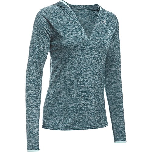 Under Armour Damen Fitness Sweatshirt TECH LS Hoody Twist, blau, XS - Coldgear Hoody