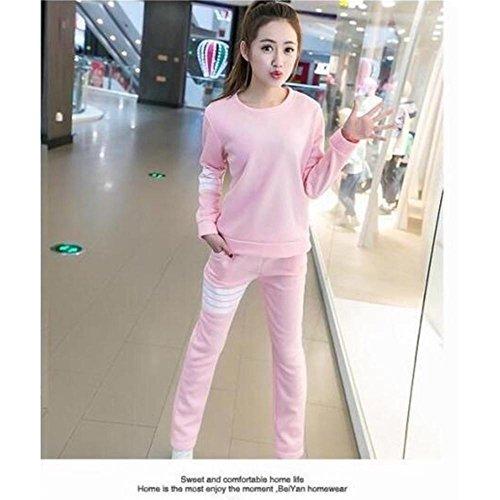 CHUNHUA Au printemps et en automne pyjamas manches longues de Dame coton loisirs sports vêtements slim set l XL XXL XXXL , e , l c