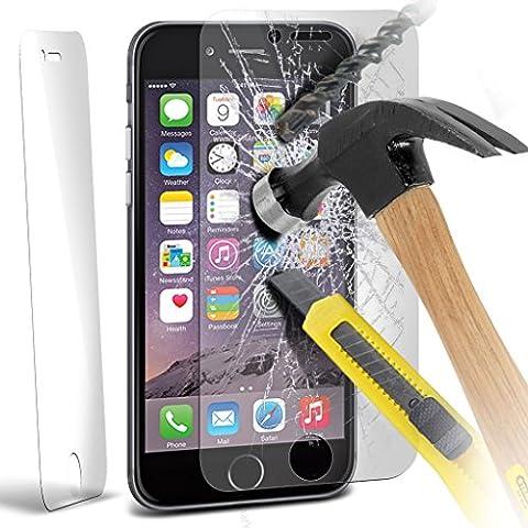 ( Pack Of 1 ) Apple iPhone 6S Plus Specifically Designed Temprato Protezione di schermo in vetro Crystal Clear LCD confezioni con Panno & scheda Applicazione
