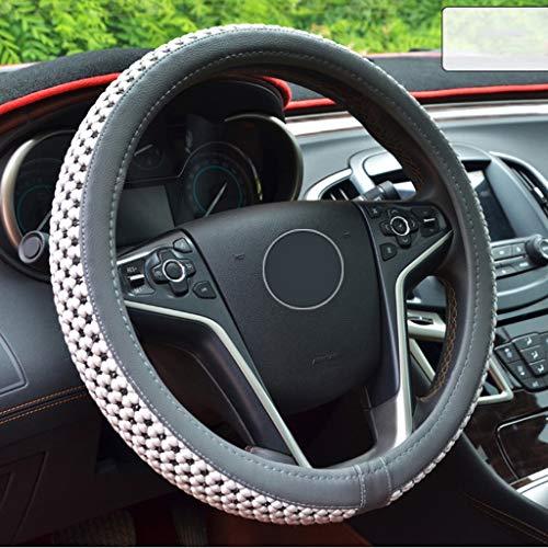 Rouge FrohLila Couvre-volant de voiture universel en cuir artisanal 37-39/cm respirant antid/érapant et daspect luxueux