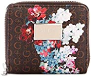 Guess Factory Women's Abree Small Zip-Around Wallet, Saffiano Lea