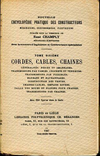 Cordes cables chaines