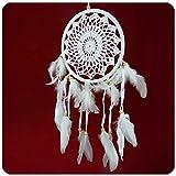 Traumfänger Dreamcatcher Windspiel Federn Träume Geschenk Deko Hängend Fensterdekoration, Wanddekoration gehäkelt 16 cm Farbe Motiv 1