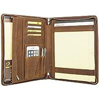 Coface Padfolio professionale con cerniera di chiusura, Crazy Horse Pelle, Padfolio per iPad 12.9, Micro Surface Pro 3/Pro 4, A4 Notebook Paper - Esecutivo Cerniera Padfolio