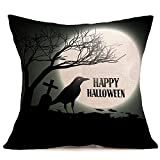 VEMOW Meistverkaufte Happy Halloween Kissenbezüge Leinen Sofa Kissenbezug Home Decor Party Dekoration 18